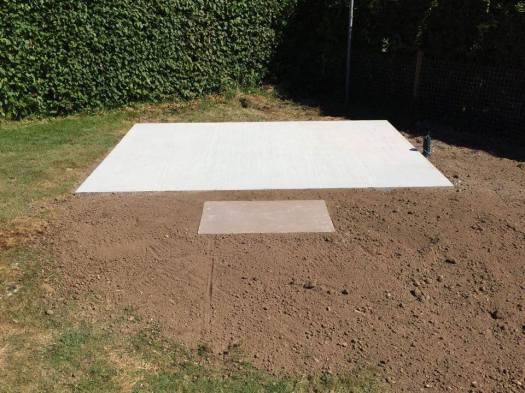 concrete base for garden room
