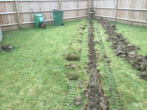 trenching for drainage