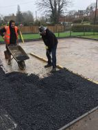 laying of base tarmac
