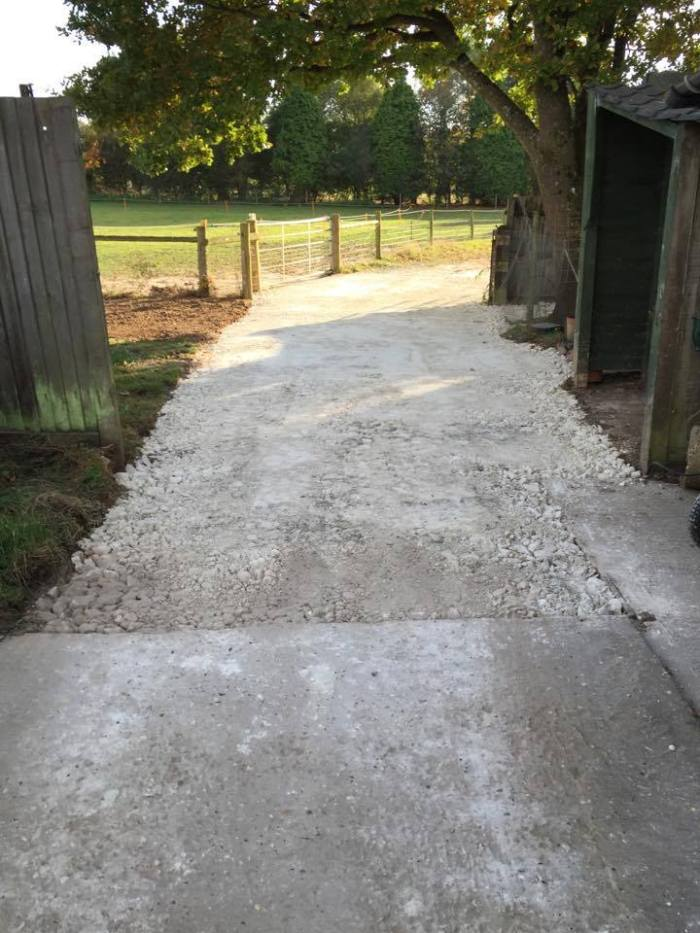 chalk-hardstanding