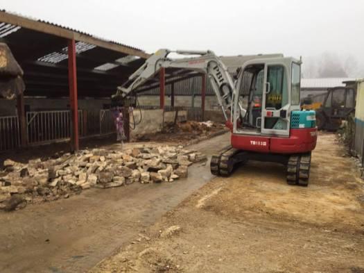 digger demolition