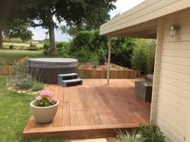 hot tub decking